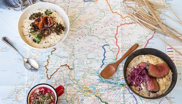 Scotland map with porridge