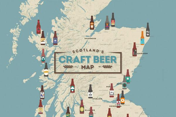 Image of Scotland's Craft Beer Map