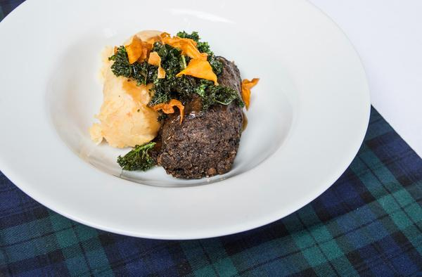 Piatto di Haggis dell'Arisaig Bar & Restaurant, Glasgow