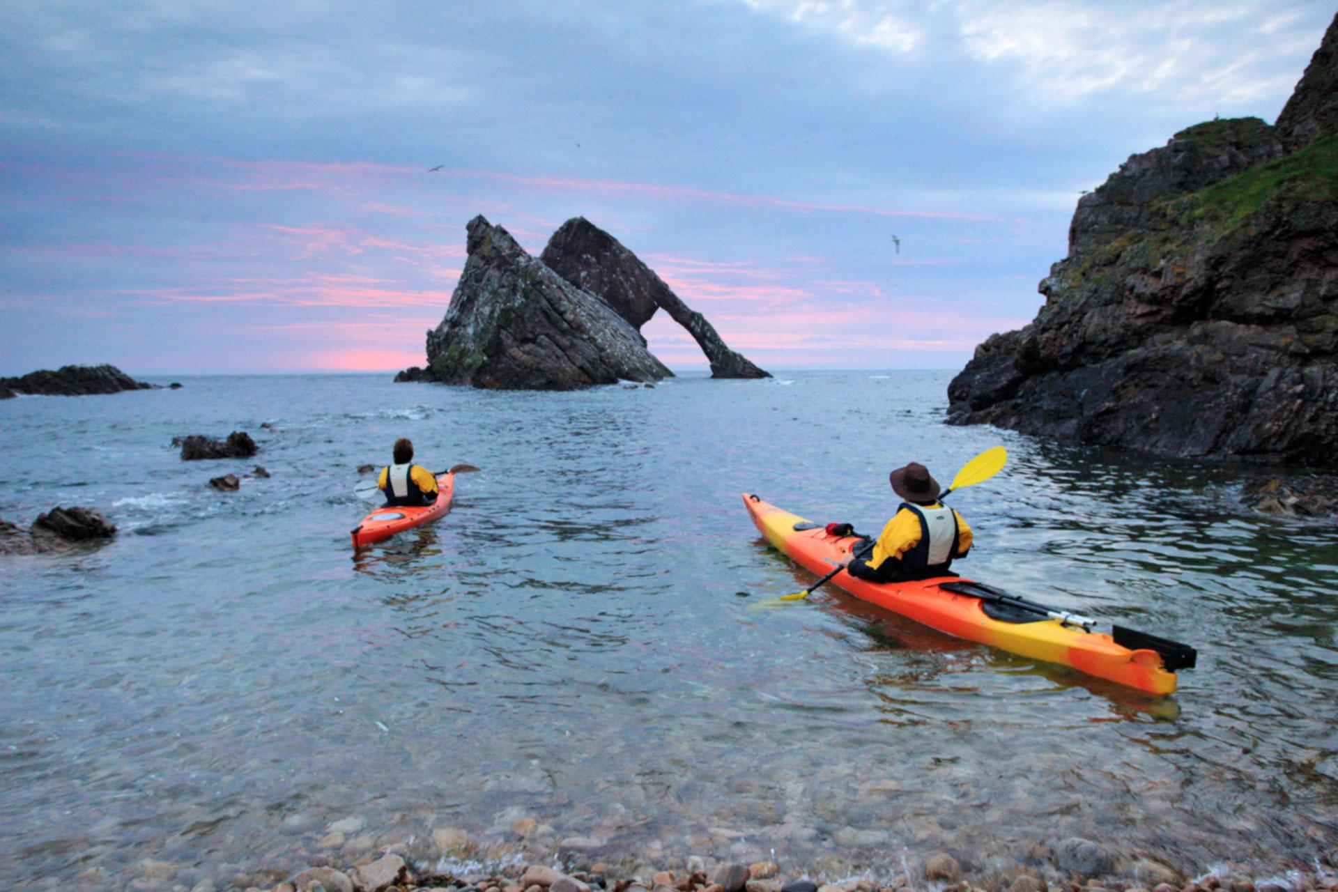 Bow Fiddle Rock kayak