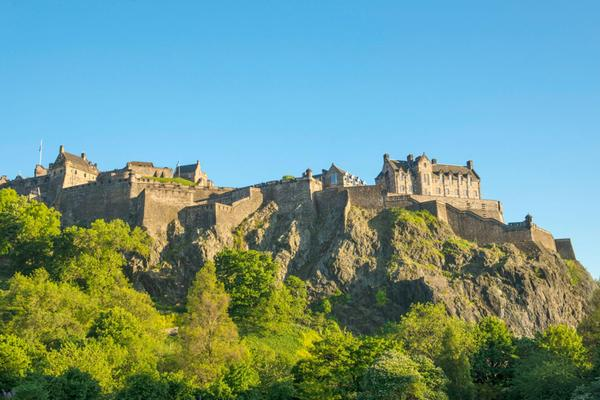 Edinburgh Castle as seen from Princes Street