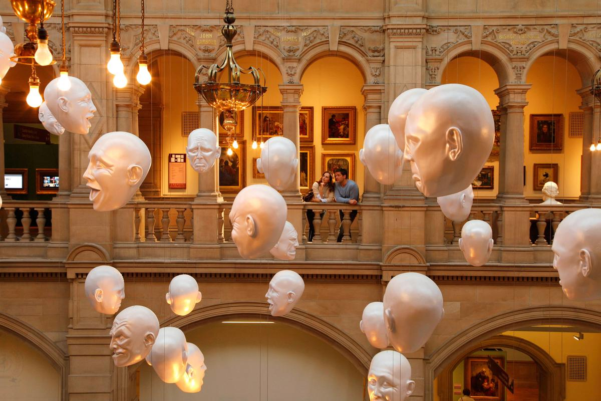 Floating heads Kelvingrove