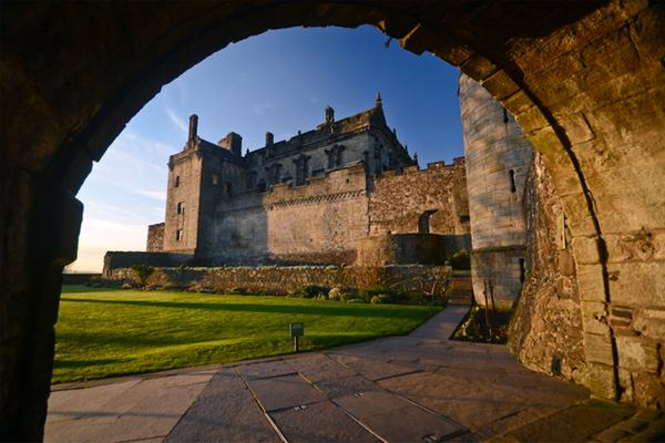 Stirling Castle, framed by the arched entrance © Kenny Lam