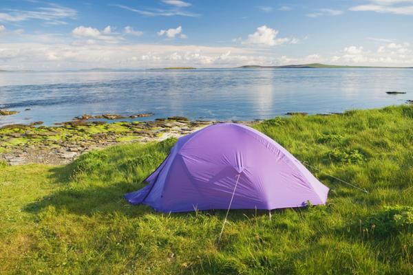 Wild camping at Sandy Geo near Ness of Ork, Shapinsay