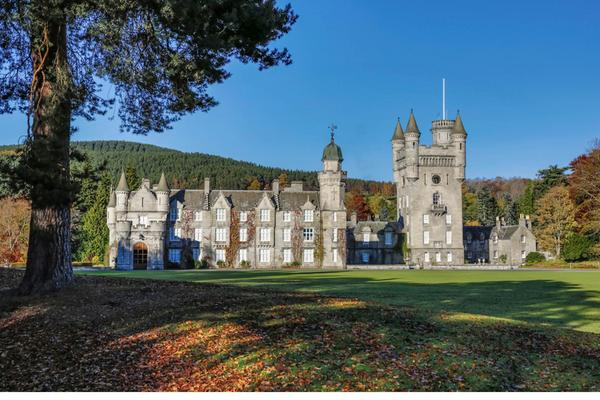 Balmoral Castle in autumn, Royal Deeside, Aberdeenshire