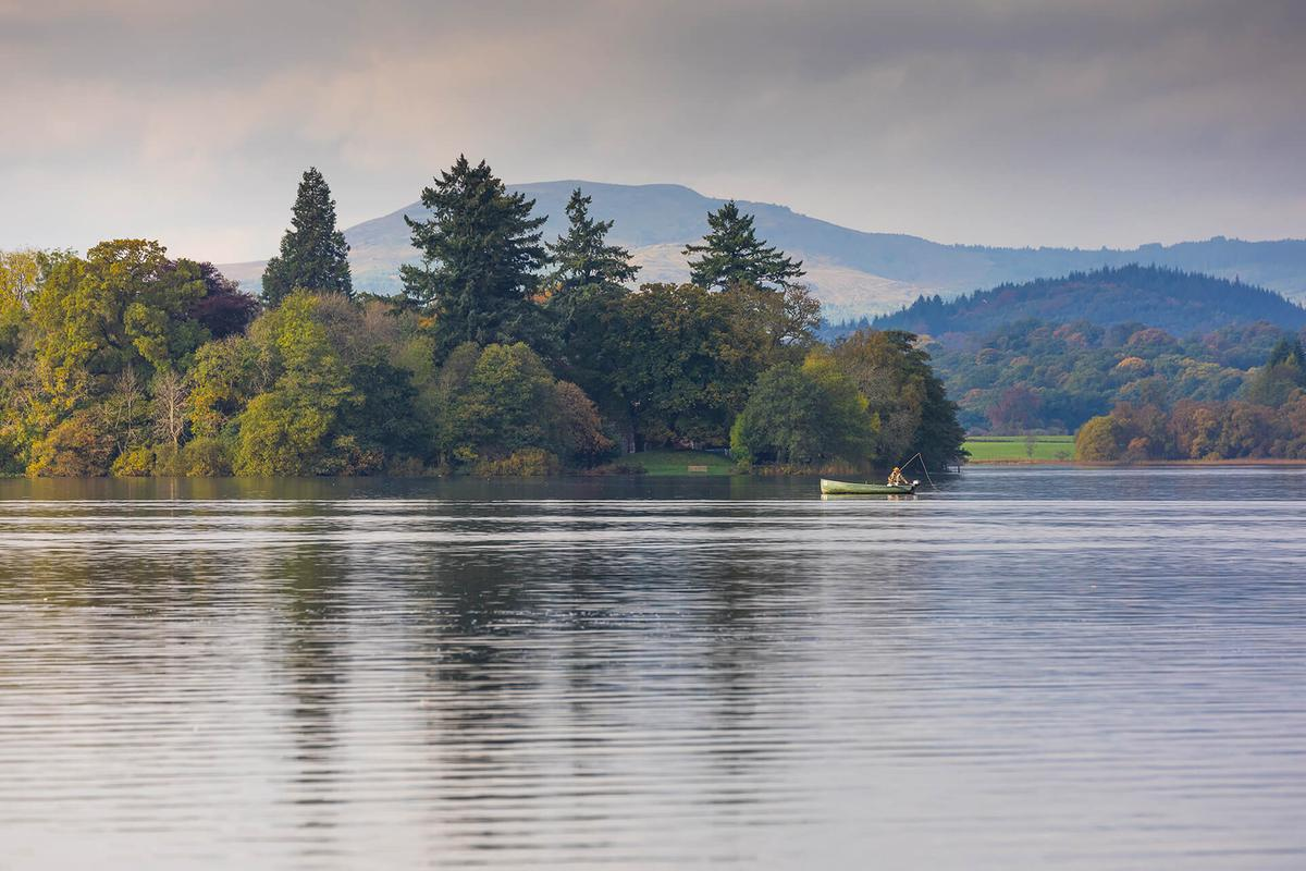 Fishing on the Lake of Menteith, Stirlingshire