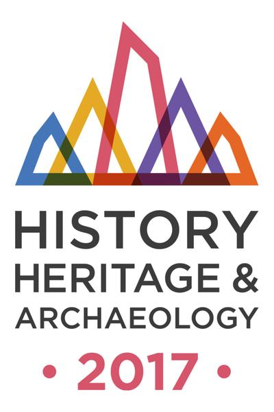 The logo for the Year of History, Heritage and Archaeology 2017