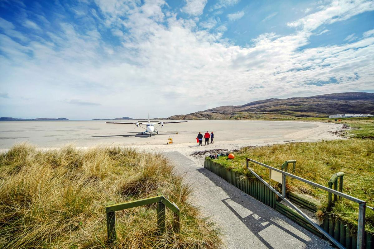 Barra Airport, Traigh Mhor Beach, Isle Of Barra