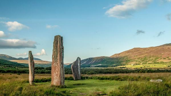 Machrie Moor standing stones on the Isle of Arran © Ayrshire & Arran Tourism Team