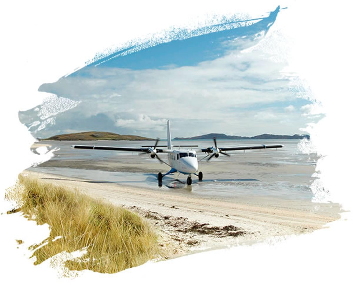 Barra Airport, Traigh Mhor Beach, Isle of Barra, Outer Hebrides