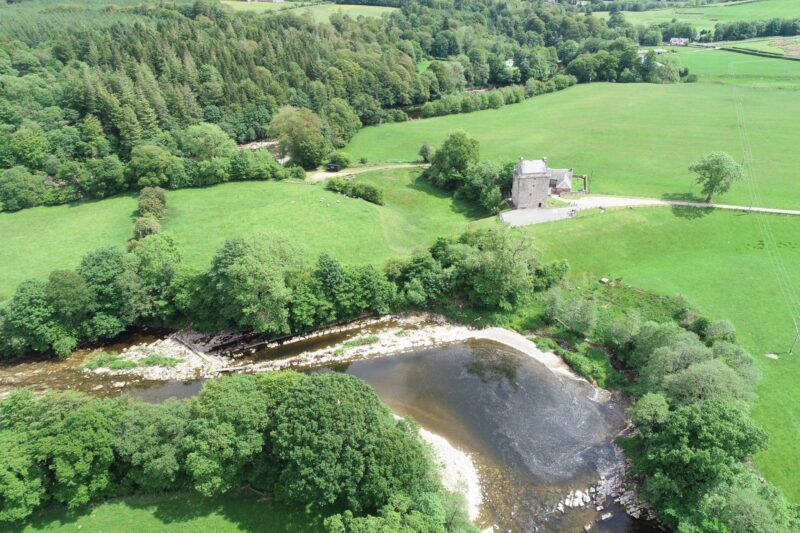 Gilnockie Tower and River Esk