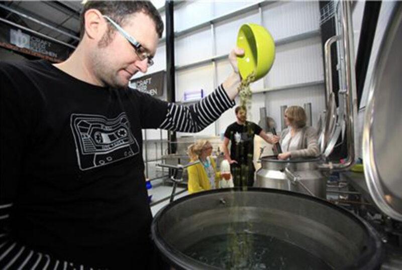Stewart Brewing vats