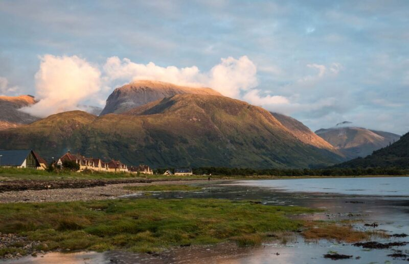 Ben Nevis Seen From The Beach At Corpach