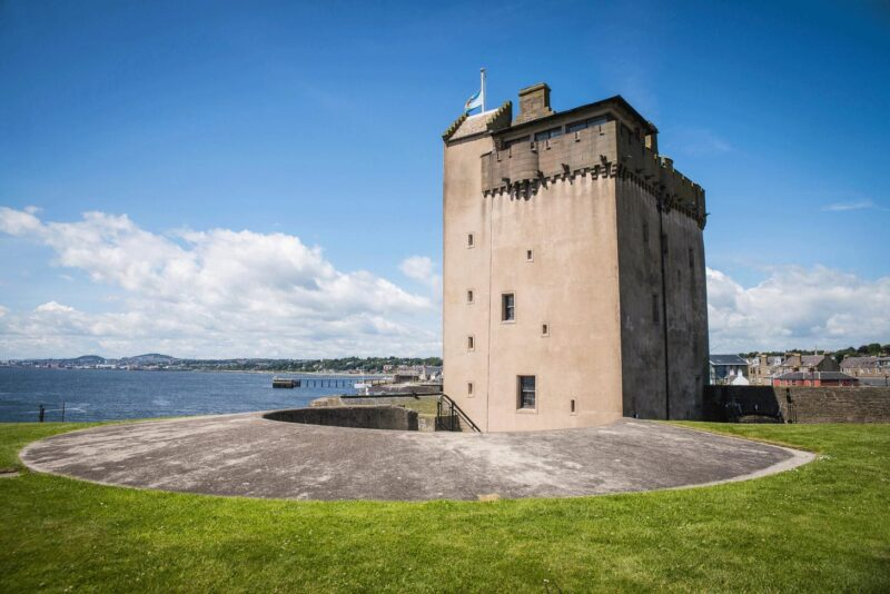 Close up view of Broughty Ferry Castle