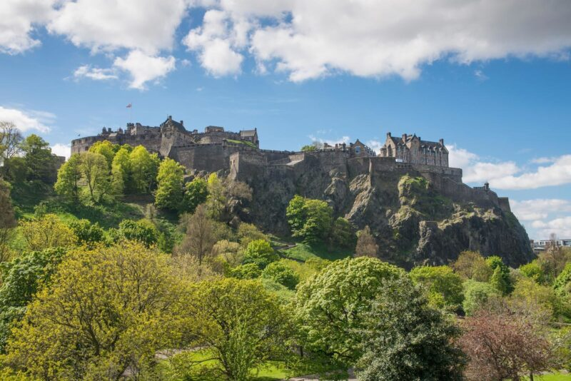 Edinburgh Castle Seen From Princes Street