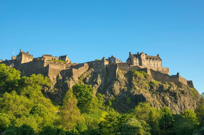 Edinburgh Castle Seen From Princes Street view 2