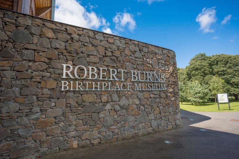 Robert Burns Birthplace Museum sign