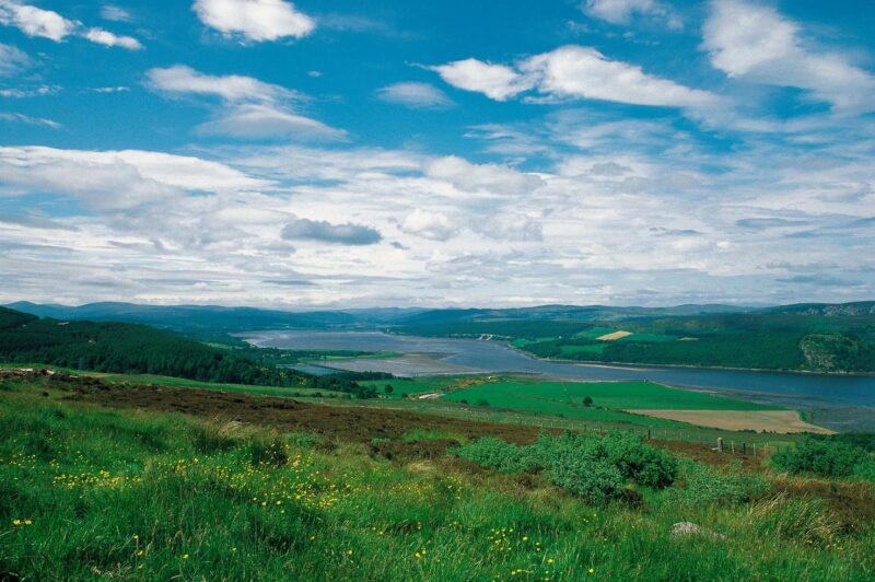 Looking Along The Dornoch Firth From Struie Towards Bonar Bridge