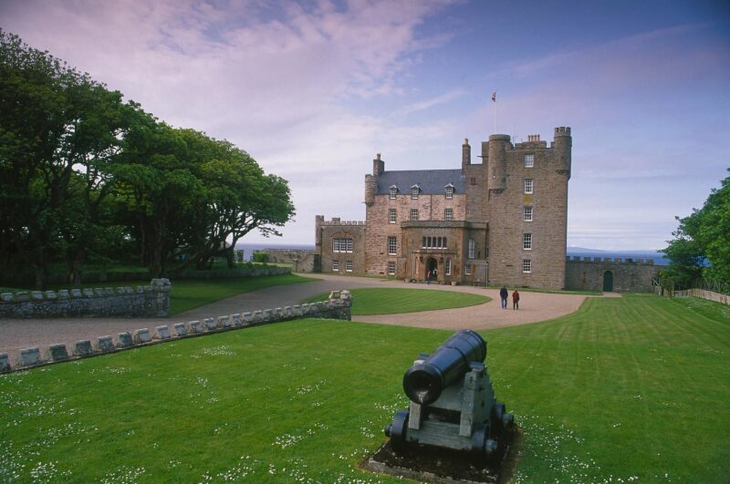 Looking Over An Ornamental Canon To The Castle Of Mey view 2