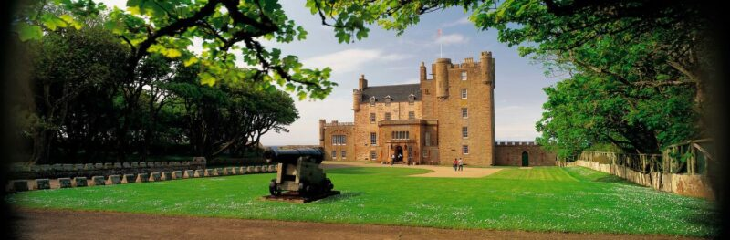 Looking Over An Ornamental Canon To The Castle Of Mey view 3