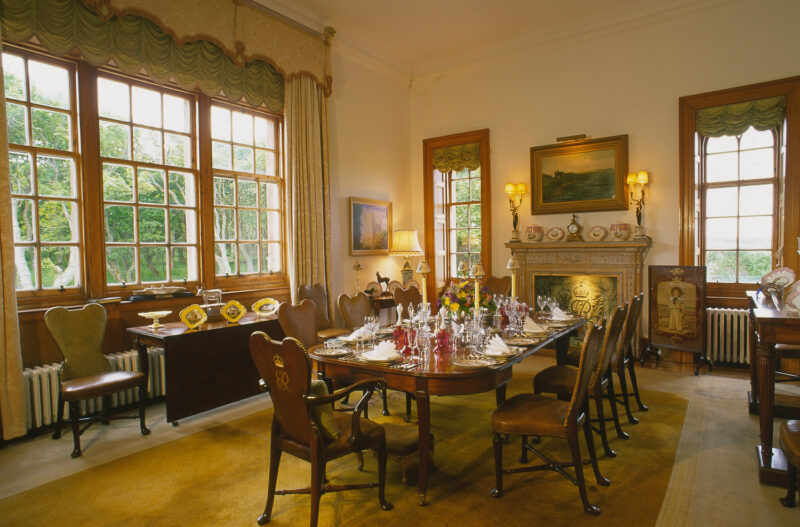 Looking Over The Luxurious Furnishings In The Dining Room At The Castle Of Mey