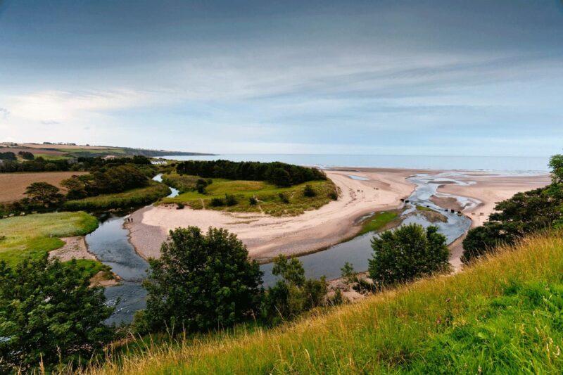 Lunan Water And Lunan Bay Near Montrose Angus