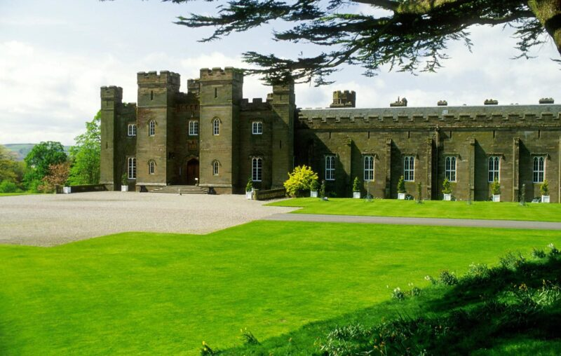 Looking Over The Driveway To The Entrance Of Scone Palace