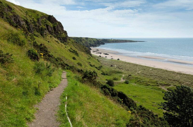 St Cyrus Beach And Dunes A National Nature Reserve At St Cyrus On The Aberdeenshire Coast