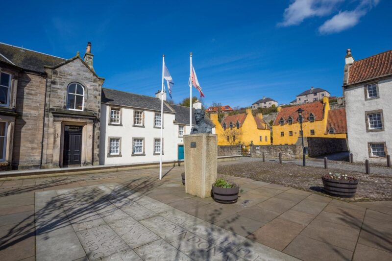 The Old Buildings And Cobbled Streets Of The Royal Burgh Of Culross