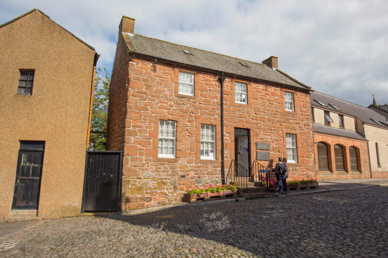 The Robert Burns House In Dumfries Where He Spent The Last Years Of His Life