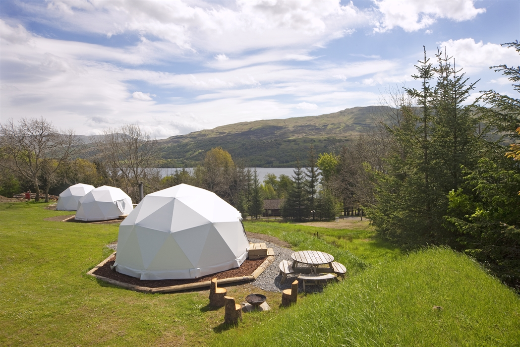 Looking over the domes to Loch Tay