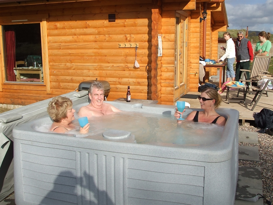 Glenbeag mountain lodges visitscotland Log cabins with hot tubs scotland
