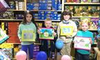 Prize winners for the Grasshopper Toys colouring competition!  Well done everyone!