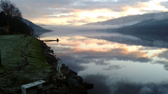 Loch Earn sunrise Briar Cottages Lochearnhead
