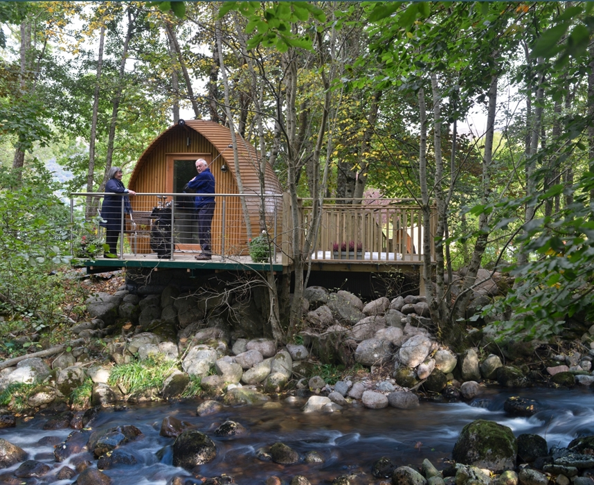 Riverbeds Luxury Wee Lodges With Hot Tubs Ballachulish Glamping Visitscotland
