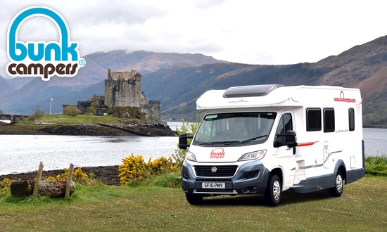 Awesome   Available To Hire At Bunk Campers Campervan Hire Edinburgh Depot