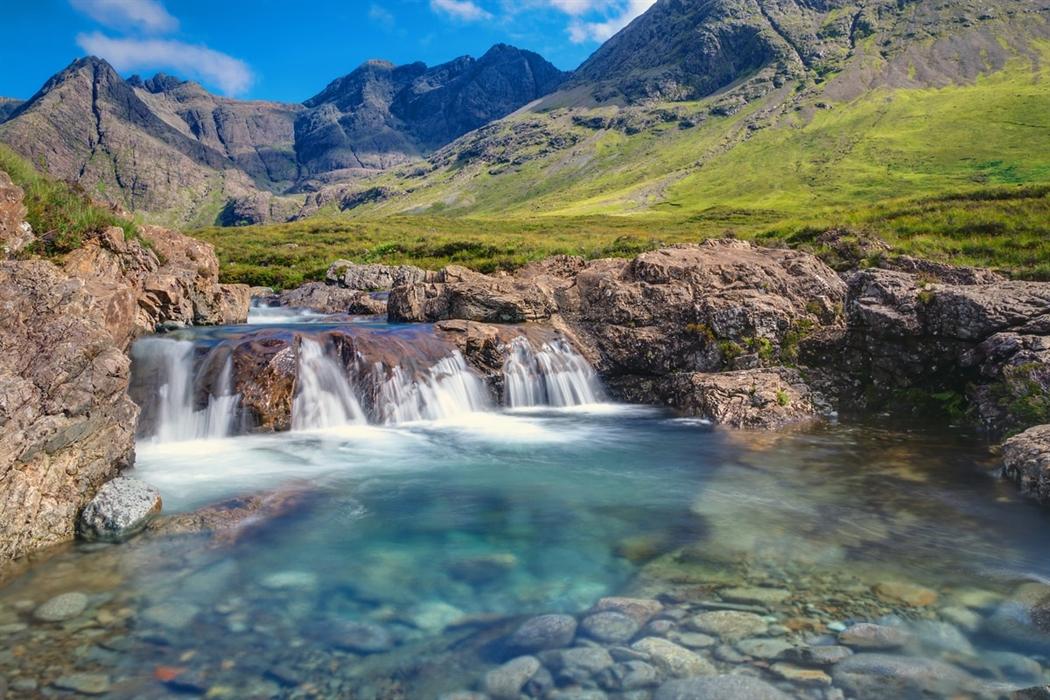 Fantasy Landscape Mountains Waterfalls